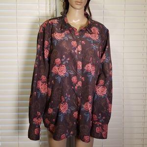 Legacy Falls Soft Rose Western Shirt XXL